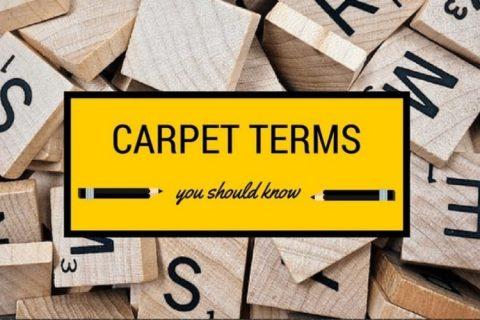 Carpet Terminology