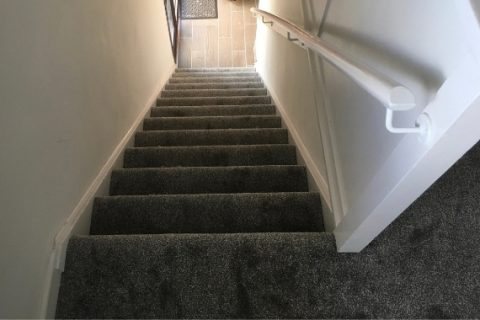 San Diego Saxony fitted to stairs.