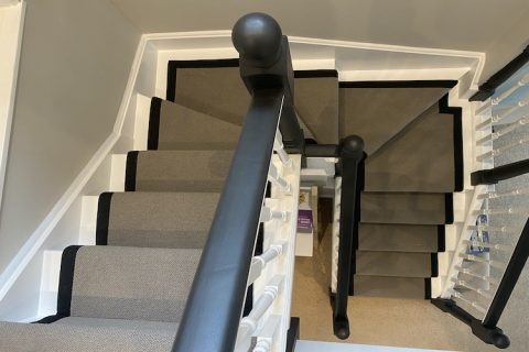 Stair Runner Fitted With Wide Border.