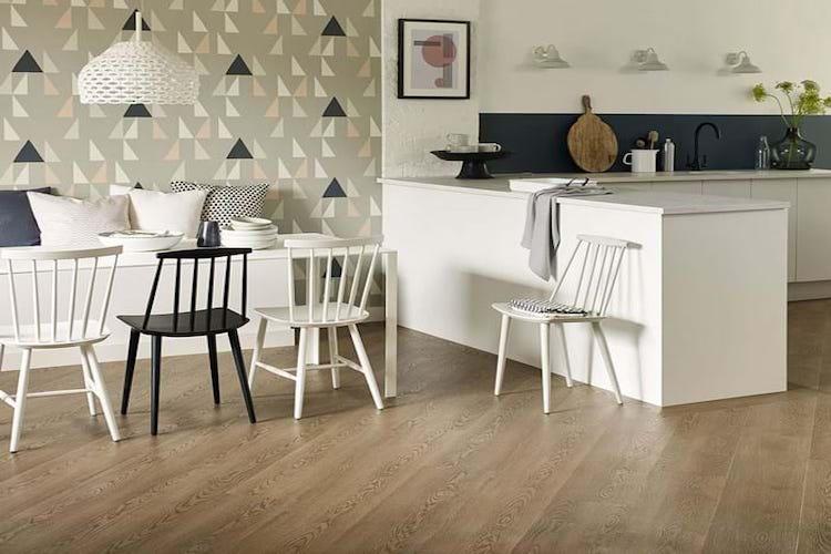 diagonal LVT floor
