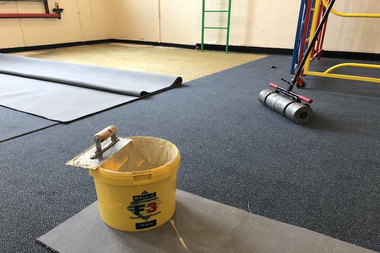 school carpet instalation