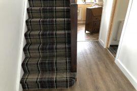 Tartan Carpet and LVT installation