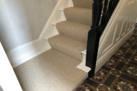 Wool Berber Runner on Stairs